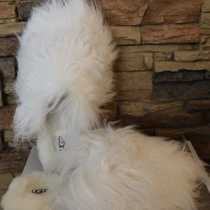 UGG FLUFF MOMMA Mongolian Fur Slippers NEW!